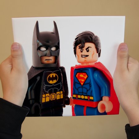 Azulejo Decorativo Batman e Superman Lego