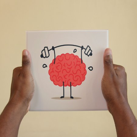 Azulejo Decorativo Cérebro Malhando