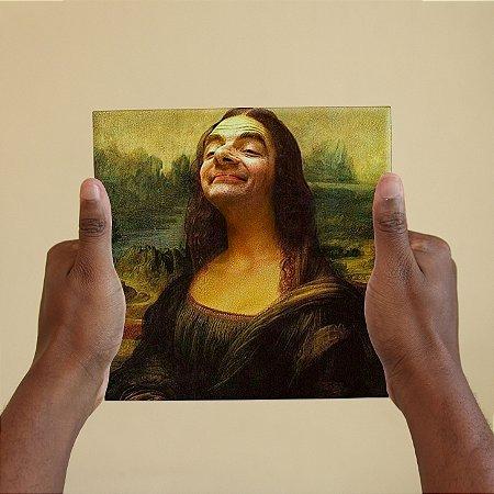 Azulejo Decorativo Mr. Bean Mona Lisa