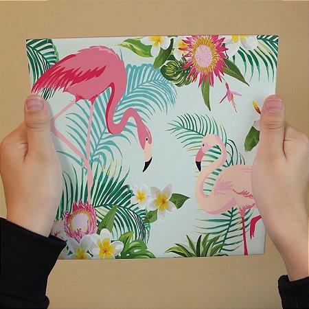 Azulejo Decorativo Flamingos #1