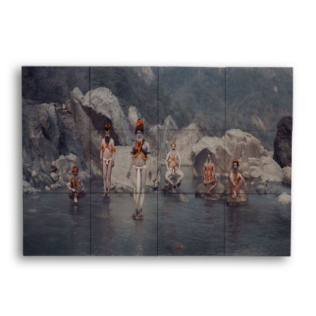 Painel com 12 Azulejos Tribo Oriental
