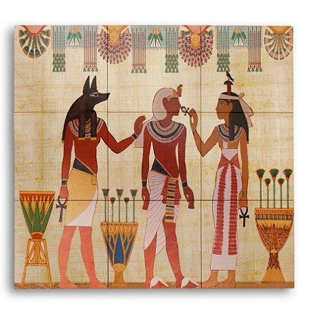 Painel com 9 Azulejos Egito Antigo