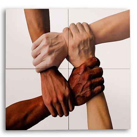 Painel com 4 Azulejos União Humana