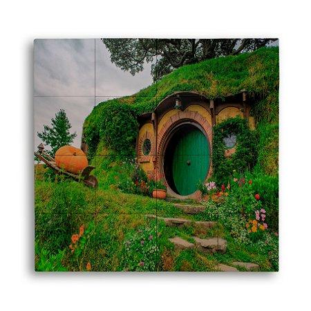 Painel com 16 Azulejos Casa Hobbiton