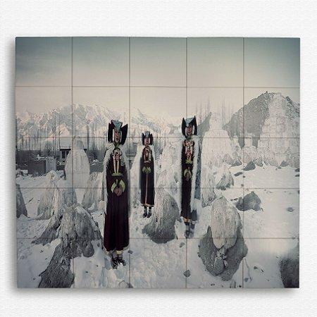 Painel com 25 Azulejos Tribo na Neve