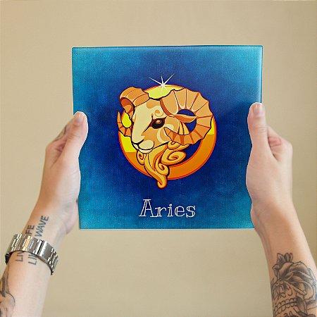 Azulejo Decorativo ÁRIES - Coleção Signos do Zodíaco