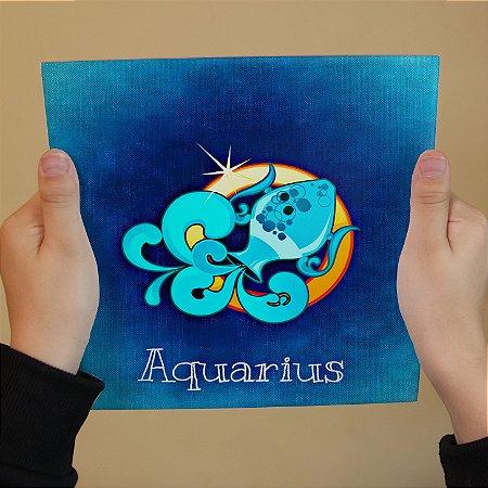 Azulejo Decorativo AQUÁRIO - Coleção Signos do Zodíaco