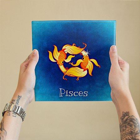 Azulejo Decorativo PEIXES - Coleção Signos do Zodíaco