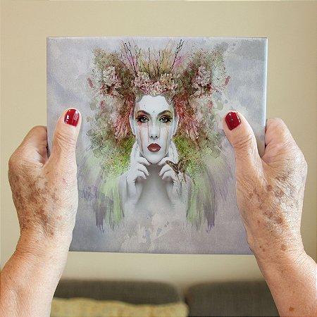 Azulejo Decorativo Mulher em Aquarela