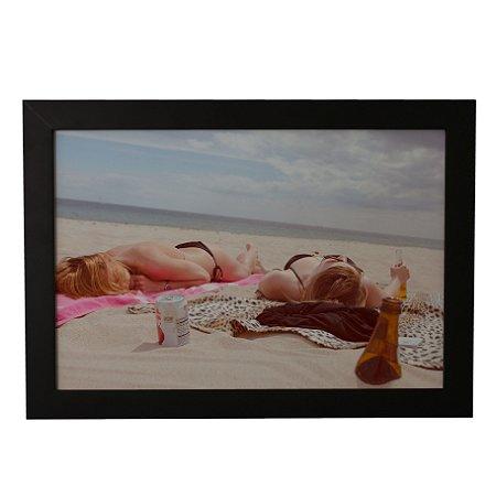 Quadro Decorativo Banho de Sol na Praia