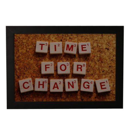 Quadro Decorativo Frase Time For Change