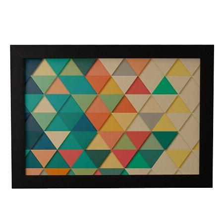 Quadro Decorativo Abstrato Triangulos