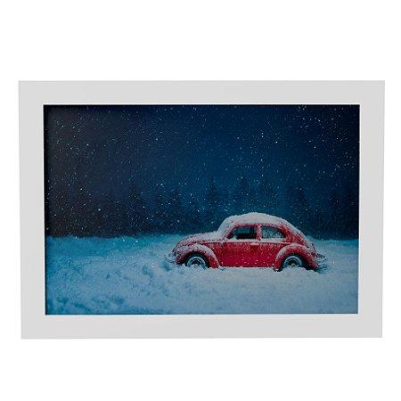 Quadro Decorativo Fusca na Neve