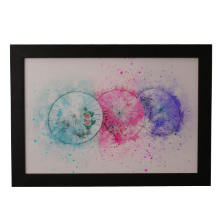 Quadro Decorativo Guarda-Chuvas Aquarela