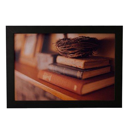 Quadro Decorativo Livros Ninho