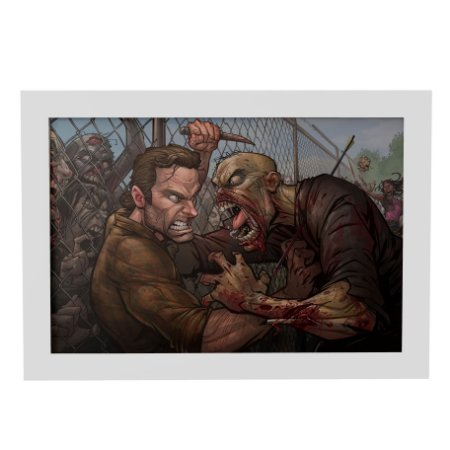 Quadro Decorativo Walking Dead Art