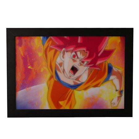 Quadro Decorativo Goku SSJ Deus