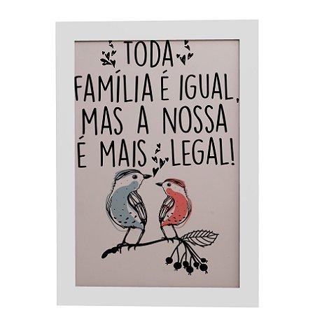 Quadro Decorativo Família Mais Legal