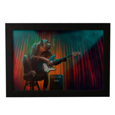 Quadro Decorativo Chimpanzé Guitarrista