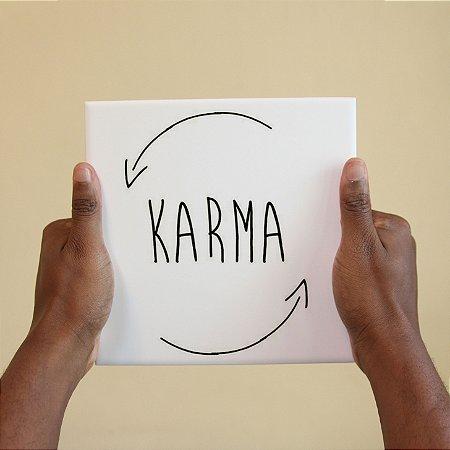Azulejo Decorativo Karma