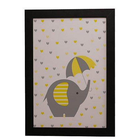 Quadro Decorativo Elefantinho na Chuva