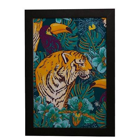 Quadro Decorativo Tigre e Tucano