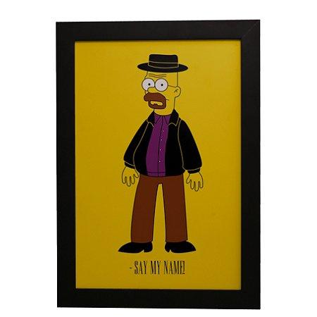 Quadro Decorativo Homer Heisenberg