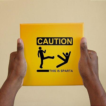 Azulejo Decorativo Caution Sparta
