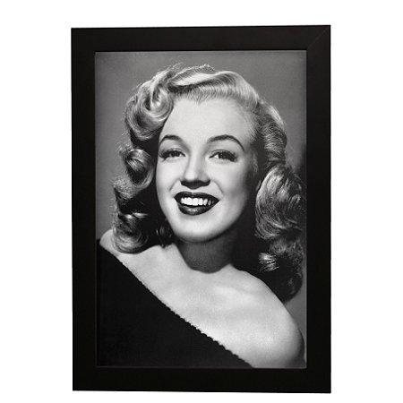 Quadro Decorativo Marilyn Monroe P&B