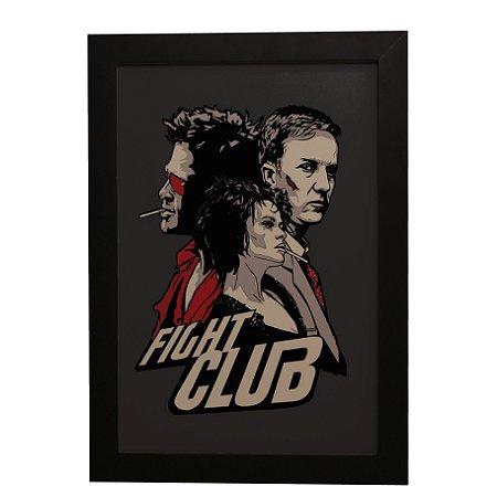 """Quadro Decorativo Fight Club """"Clube da Luta"""""""