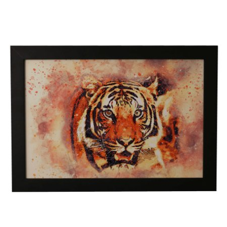 Quadro Decorativo Tigre de Aquarela