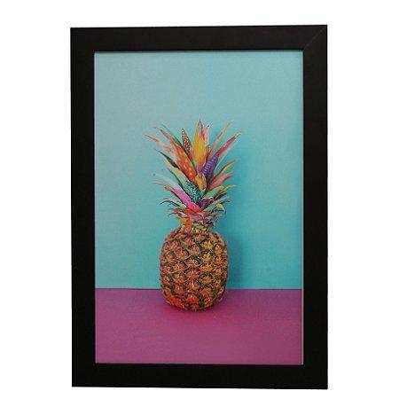 Quadro Decorativo Abacaxi Colorido