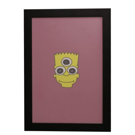 Quadro Decorativo Bart Simpson Alienigena