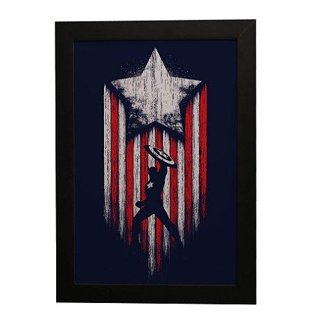 Quadro Decorativo Capitão América #1