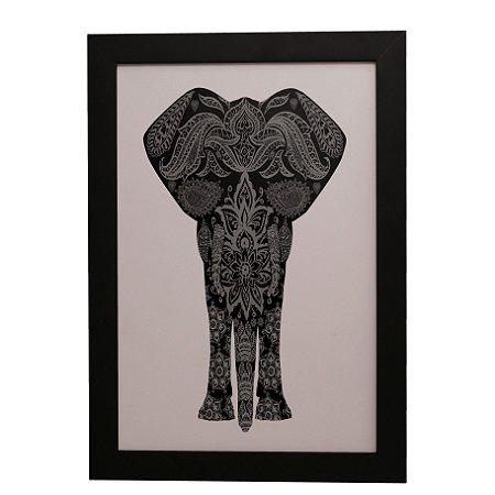 Quadro Decorativo Elefante Mandala