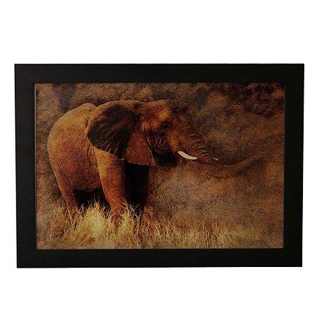 Quadro Decorativo Elefante Selvagem