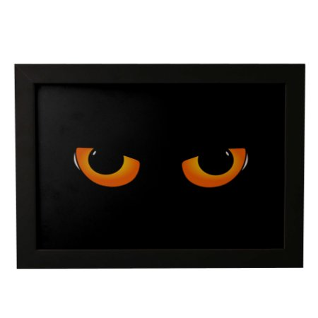 Quadro Decorativo Olhos de Gato Preto