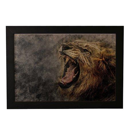 Quadro Decorativo Leão Selvagem