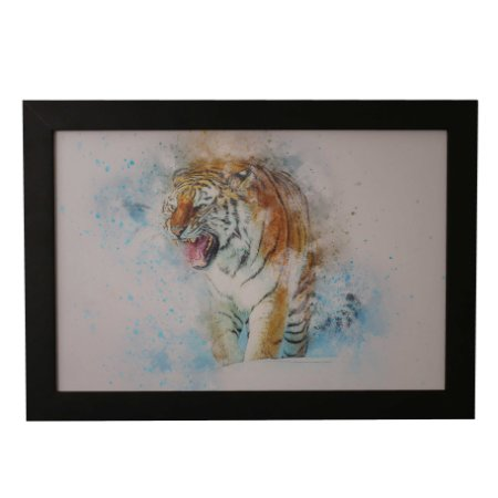 Quadro Decorativo Tigre de Aquarela #1
