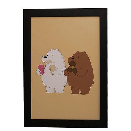 Quadro Decorativo Infantil Dois Ursinhos
