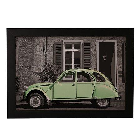 Quadro Decorativo Carro Vintage Verde