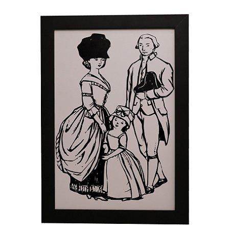 Quadro Decorativo Família Aristocrata