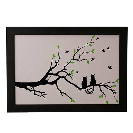 Quadro Decorativo Gatinhos na Árvore