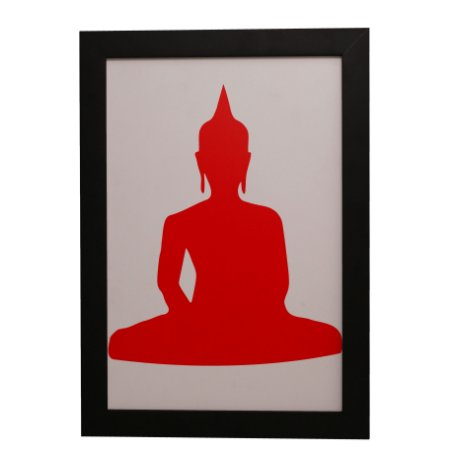 Quadro Decorativo Buda Vermelho