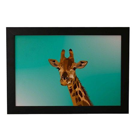 Quadro Decorativo Girafa Pintada