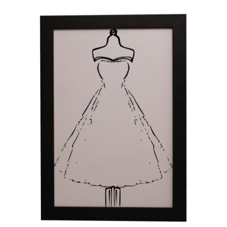Quadro Decorativo Vestido de Noiva