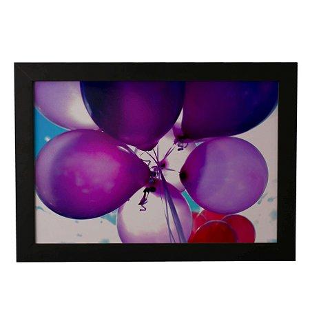 Quadro Decorativo Balões Roxos