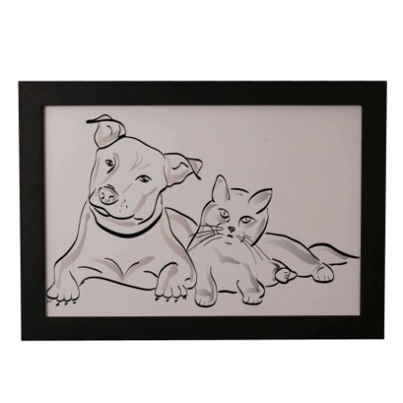 Quadro Decorativo Cão e Gato #1