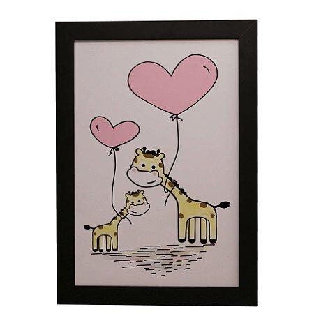 Quadro Decorativo Infantil Girafinhas