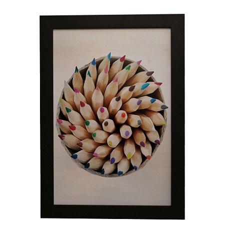 Quadro Decorativo Lápis Coloridos